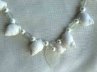 Detail- Galloway Coast White Whelk and Pearl Necklace