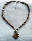 Brown Ceramic with Shell Centre Necklace